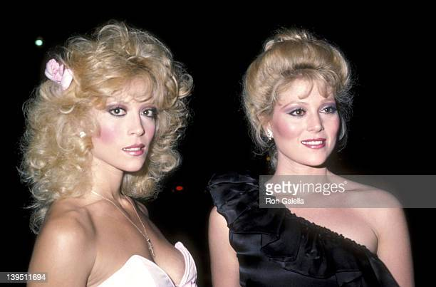 Actress Judy Landers and actress Audrey Landers attend the Variety Magazine Party on October 25 1983 at the Hollywood Bowl's parking lot in Hollywood...
