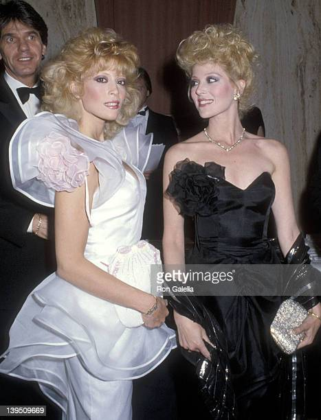 Actress Judy Landers and actress Audrey Landers attend the WrapUp Party for the Eighth Season of The Love Boat on March 31 1985 at Beverly Hilton...