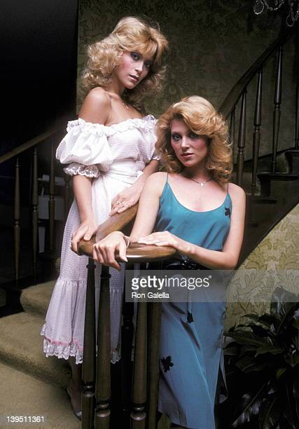 Actress Judy Landers and actress Audrey Landers on April 21 1982 pose for an exclusive photo session at their home in Beverly Hills California