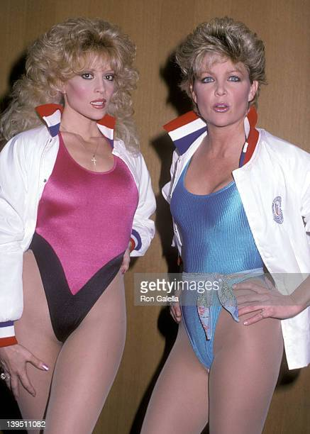 Actress Judy Landers and actress Lisa Hartman attend the Taping of the Television Special The Stars Salute the US Olympic Team to Help Raise Funds...