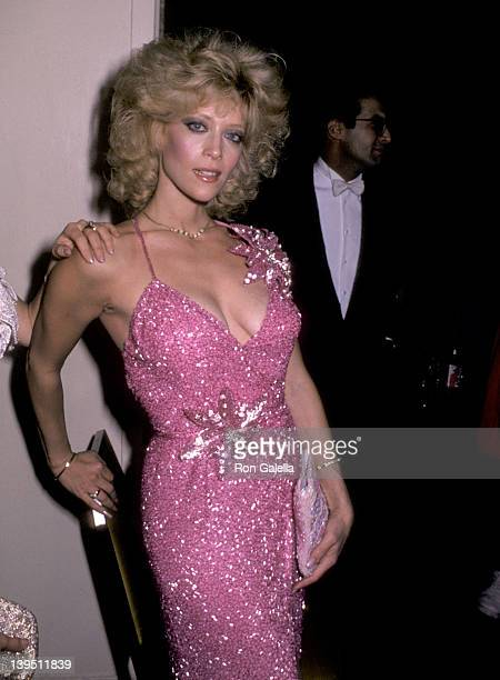 Actress Judy Landers attends A Chorus Line Premiere Party on December 9 1985 at The WaldorfAstoria Hotel in New York City