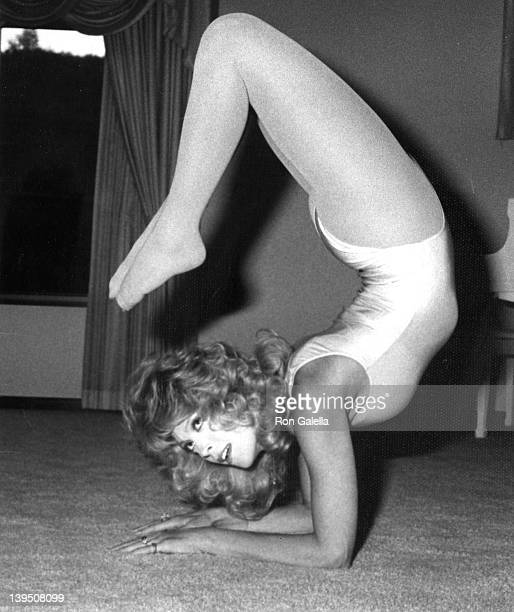 Actress Judy Landers attends Exclusive Photo Session with The Landers Sisters on April 21 1982 at her home in Beverly Hills California