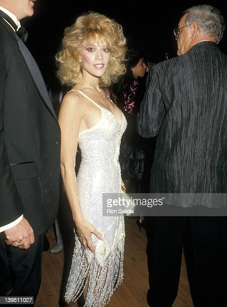 Actress Judy Landers attends the 14th Annual American Music Awards on January 26 1987 at Shrine Auditorium in Los Angeles California