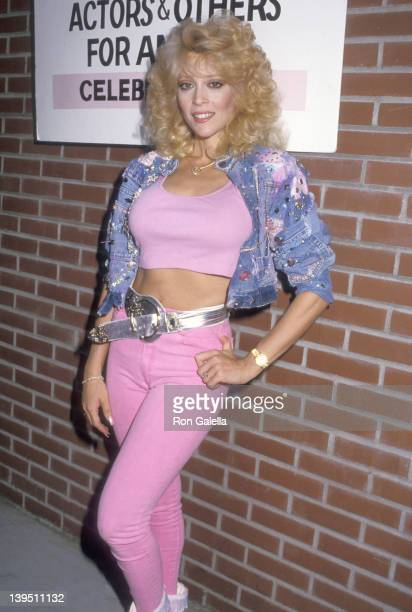 Actress Judy Landers attends the Alpo's 11th BiAnnual Actors Others For Animals Celebrity Fair on August 30 1987 at Burbank Studio Ranch in Burbank...