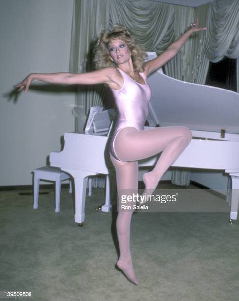 Actress Judy Landers on April 21 1982 poses for an exclusive photo session at their home in Beverly Hills California