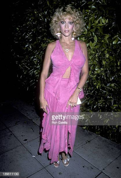 Actress Judy Landers on August 30 1986 dines at Le Dome Restaurant in West Hollywood California