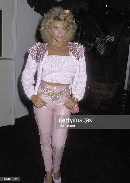 Actress Judy Landers on November 18 1986 sighting at the Beverly Comstock Hotel in Los Angeles California