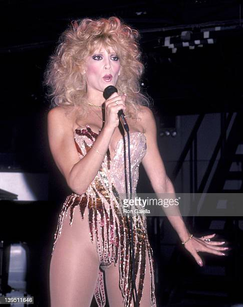 Actress Judy Landers performs in concert on June 13 1984 at The Red Parrot in New York City