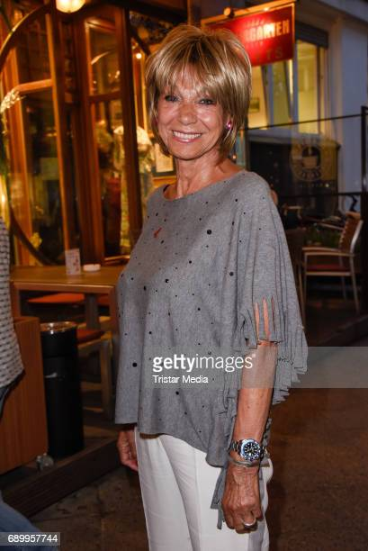 Actress Judy Winter during the Ralph Siegel musical 'Zeppelin' performance in Berlin at Wintergarten on May 29 2017 in Berlin Germany