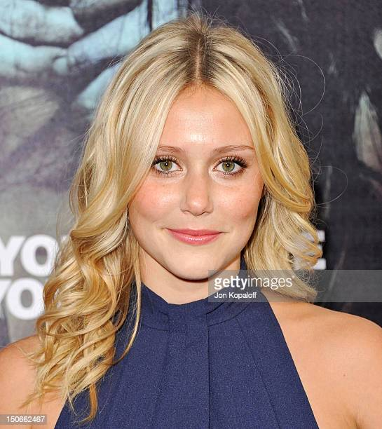 Actress Juilanna Guill arrives for the Los Angeles premiere of The Apparition held at Grauman's Chinese Theatre on August 23 2012 in Hollywood...