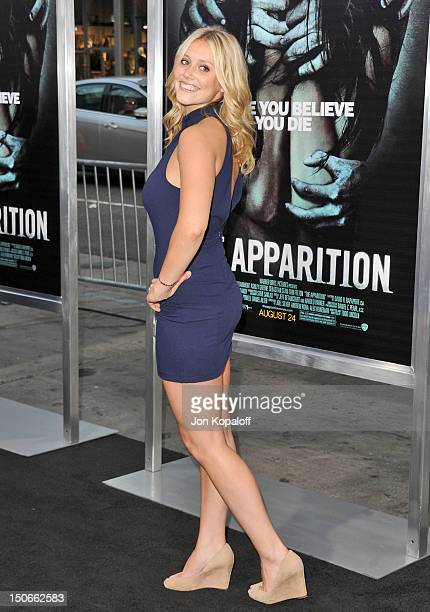 Actress Juilanna Guill arrives for the Los Angeles premiere of 'The Apparition' held at Grauman's Chinese Theatre on August 23 2012 in Hollywood...