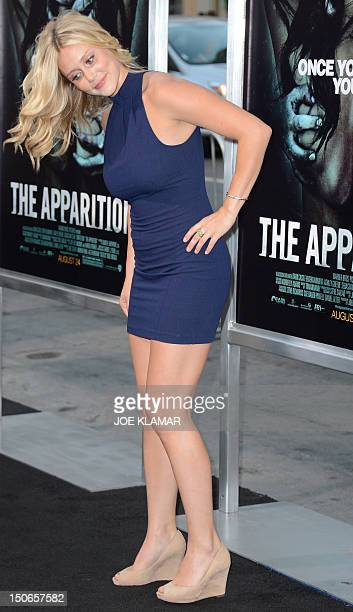 Actress Juilanna Guill arrives for the premiere of Warner Bros Pictures 'The Apparition' at Grauman's Chinese Theatre on August 23 2012 in Hollywood...