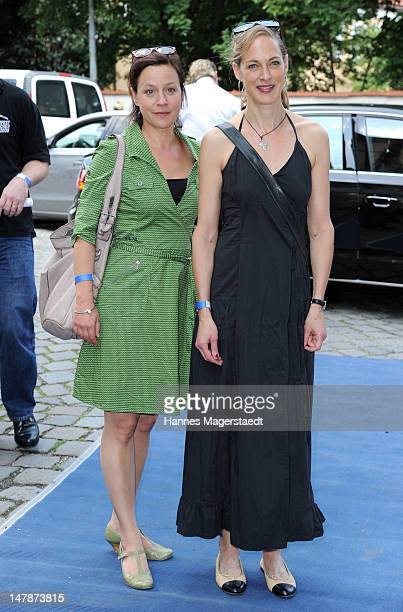 Actress Jule Ronstedt and Sophie von Kessel attend the FFF Reception during the Munich Film Festival 2012 at the Praterinsel on July 5 2012 in Munich...