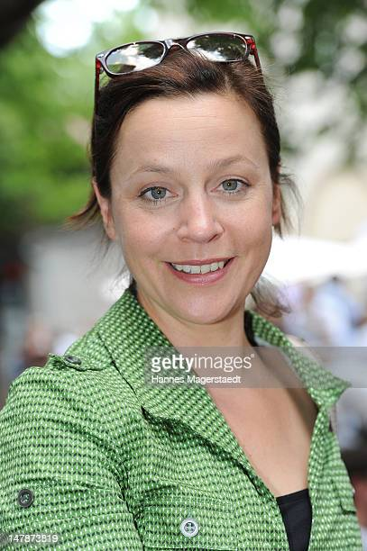 Actress Jule Ronstedt attends the FFF Reception during the Munich Film Festival 2012 at the Praterinsel on July 5 2012 in Munich Germany