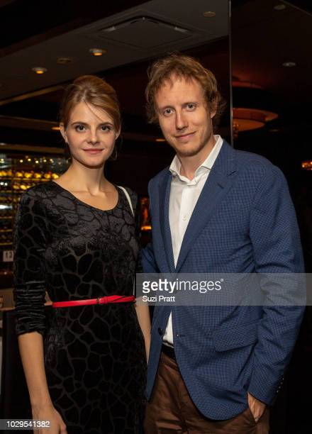 Actress Juli Jakab and director Laszlo Nemes at Morton's on September 8, 2018 in Toronto, Canada.