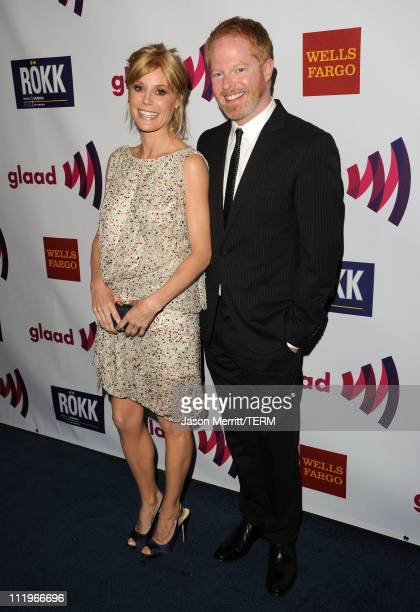 Actress Julia Bowen and actor Jesse Tyler Ferguson arrive at the 22nd Annual GLAAD Media Awards presented by ROKK Vodka at Los Angeles' Westin...