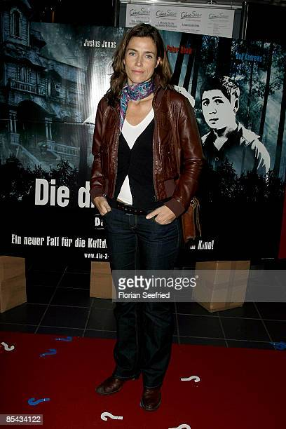 Actress Julia Bremermann attends the premiere of ''The Three Investigators and the Secret of Terror Castle' at cine star cubix on March 15 2009 in...