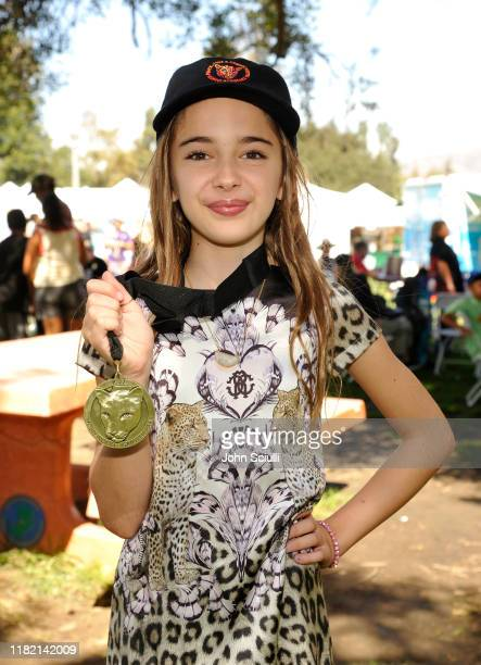 Actress Julia Butters attends 4th Annual P22 Festival and receives National Wildlife Federation Award at Griffith Park on October 19 2019 in Los...