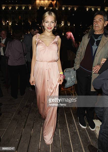 Actress Julia Dietze attends the German Films Reception at the Carlton Hotel during the 63rd Annual Cannes Film Festival on May 17 2010 in Cannes...