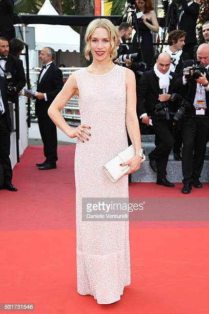 Actress Julia Dietze attends the Loving premiere during the 69th annual Cannes Film Festival at the Palais des Festivals on May 16 2016 in Cannes...