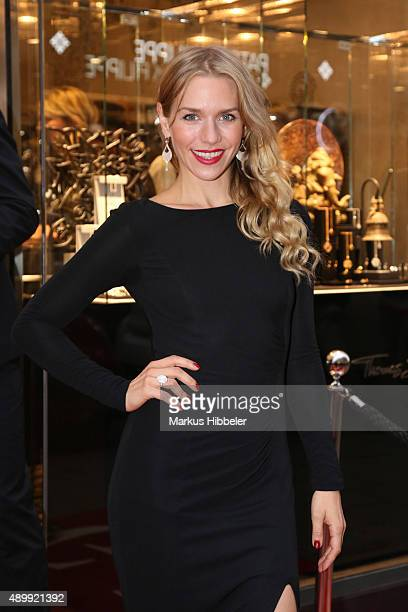 Actress Julia Dietze attends the Thomas Sabo grand flagship store opening on September 24 2015 in Hamburg Germany