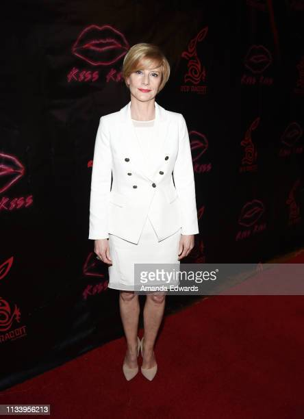 Actress Julia Farino arrives at the Los Angeles premiere of 'KISS KISS' at the Ahrya Fine Arts Theater by Laemmle on March 05 2019 in Beverly Hills...