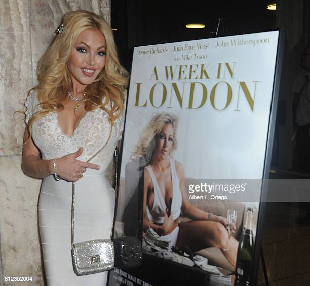Actress Julia Faye West arrives for the Premiere Of Tanner Gordon Productions' A Week In London held at ArcLight Cinemas Cinerama Dome on October 3...