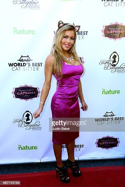 Actress Julia Faye West attends the Kitty Bungalow Charm School for Wayward Cats 2015 CATbaret Benefit concert at the Avalon Hollywood on August 1...