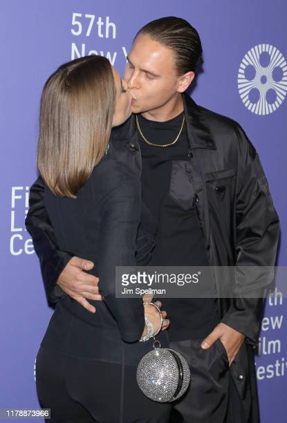 Actress Julia Fox and husband attend the Uncut Gems premiere during the 57th New York Film Festival at Alice Tully Hall Lincoln Center on October 03...