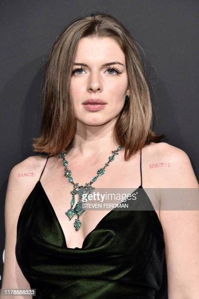 US actress Julia Fox attends Gabrielle's Angel Foundation for Cancer Research Angel Ball 2019 at Cipriani Wall Street on October 28 2019 in New York...