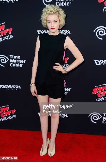 "Actress Julia Garner attends Premiere of Dimension Films' ""Sin City: A Dame To Kill For"" at TCL Chinese Theatre on August 19, 2014 in Hollywood,..."