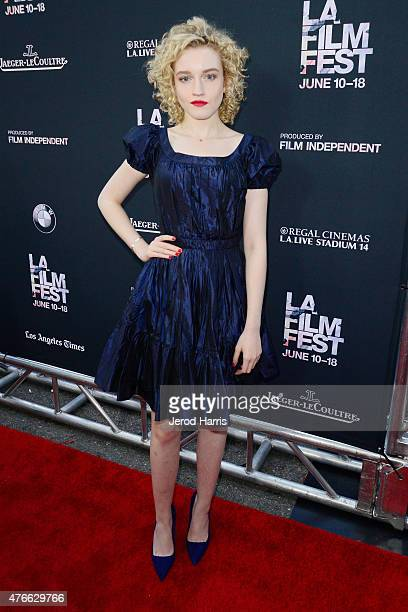 Actress Julia Garner attends the opening night premiere of 'Grandma' during the 2015 Los Angeles Film Festival at Regal Cinemas LA Live on June 10...