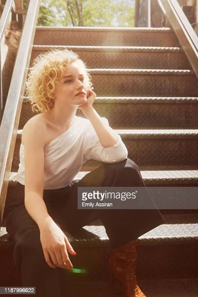 Actress Julia Garner is photographed for BackStage Magazine on July 1, 2019 at Fig. 19 in New York City. PUBLISHED IMAGE.