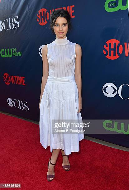 Actress Julia Goldani Telles attends CBS' 2015 Summer TCA party at the Pacific Design Center on August 10 2015 in West Hollywood California