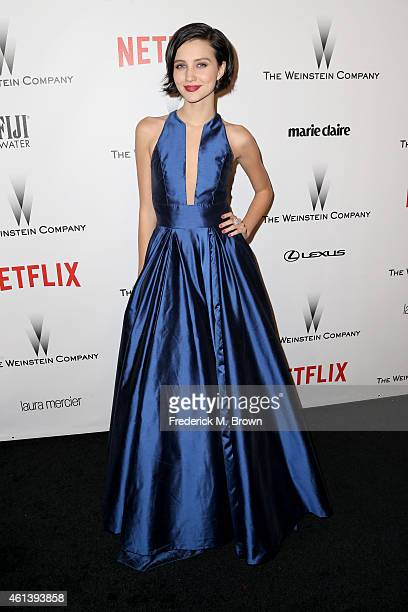 Actress Julia Goldani Telles attends the 2015 Weinstein Company and Netflix Golden Globes After Party at Robinsons May Lot on January 11 2015 in...