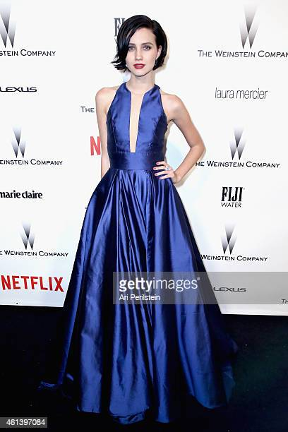 Actress Julia Goldani Telles attends The Weinstein Company Netflix's 2015 Golden Globes After Party presented by FIJI Water Lexus Laura Mercier and...