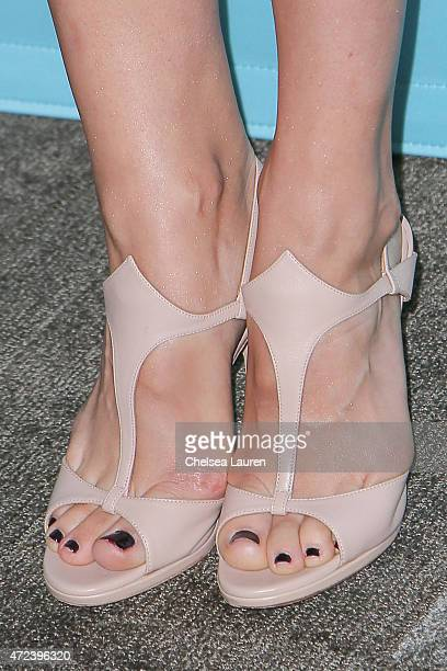 Actress Julia Goldani Telles shoe detail attends Showtime's 'The Affair' screening and panel discussion at Samuel Goldwyn Theater on May 6 2015 in...