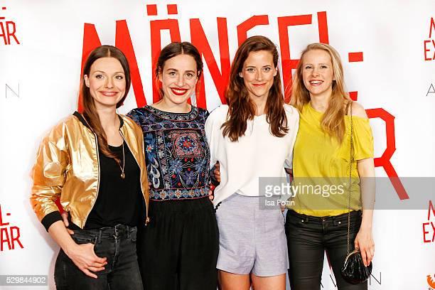 Actress Julia Hartmann actress Tina Henkel actress Anja Knauer and actress Susanne Bormann attend the German premiere of the film 'Maengelexemplar'...