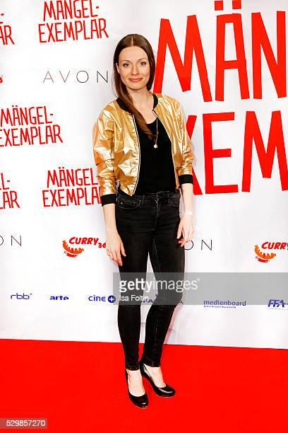 Actress Julia Hartmann attends the German premiere of the film 'Maengelexemplar' at Cinestar Kulturbrauerei on May 9 2016 in Berlin Germany