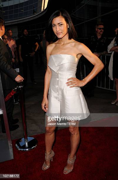 Actress Julia Jones arrives at premiere of Warner Bros 'Jonah Hex' held at ArcLight Cinema's Cinerama Dome on June 17 2010 in Hollywood California