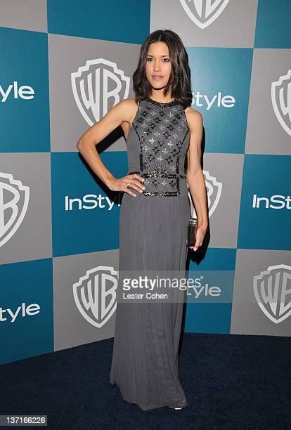 Actress Julia Jones arrives at the 13th Annual Warner Bros. And InStyle Golden Globe After Party held at The Beverly Hilton hotel on January 15, 2012...