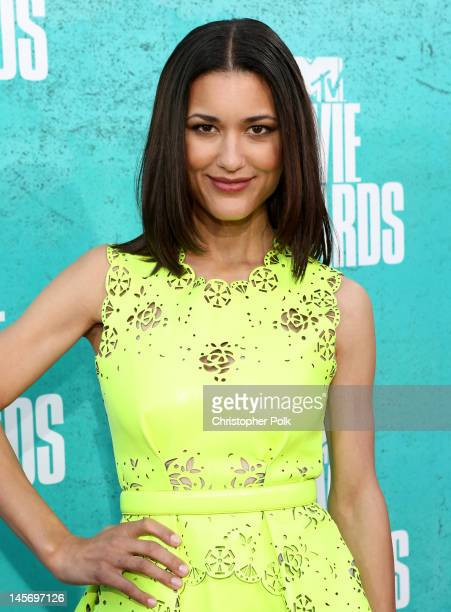 Actress Julia Jones arrives at the 2012 MTV Movie Awards held at Gibson Amphitheatre on June 3 2012 in Universal City California