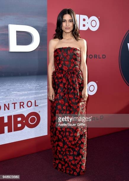 Actress Julia Jones arrives at the Los Angeles premiere of HBO's 'Westworld' season 2 at The Cinerama Dome on April 16 2018 in Los Angeles California