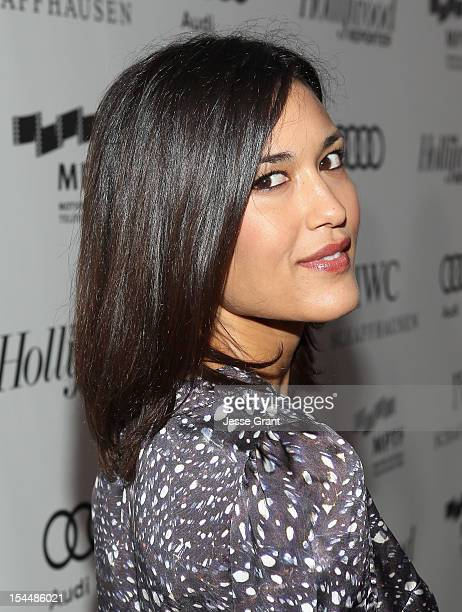 Actress Julia Jones arrives at The Motion Picture Television Fund Presentation of Reel Stories Real Lives at Milk Studios on October 20 2012 in...
