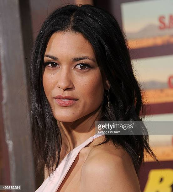 Actress Julia Jones arrives at the premiere of Netflix's 'The Ridiculous 6' at AMC Universal City Walk on November 30 2015 in Universal City...
