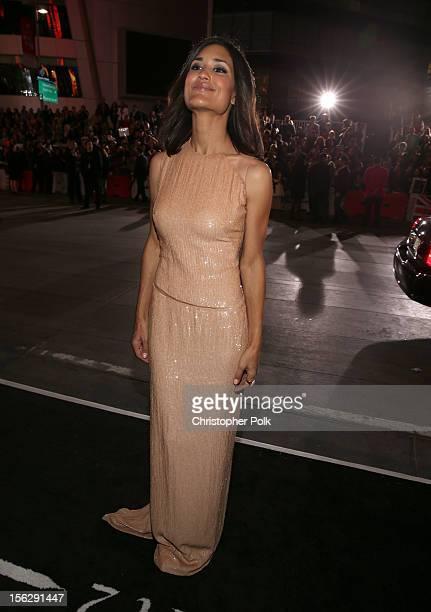 Actress Julia Jones arrives at the premiere of Summit Entertainment's The Twilight Saga Breaking Dawn Part 2 at Nokia Theatre LA Live on November 12...