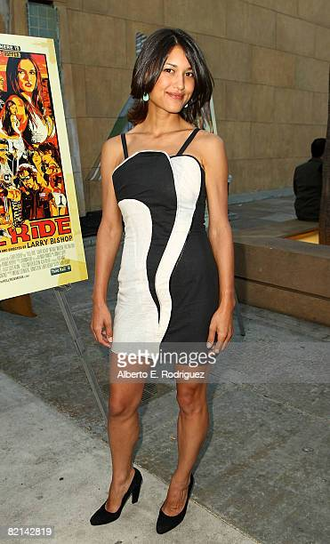 Actress Julia Jones arrives at the premiere of The Weinstein Company's Hell Ride held at the Egyptian Theater on July 31 2008 in Los Angeles...