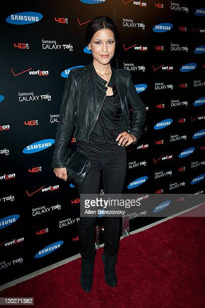 Actress Julia Jones arrives at the Samsung Galaxy Tab 101 launch party at The Beverly on August 2 2011 in Los Angeles California