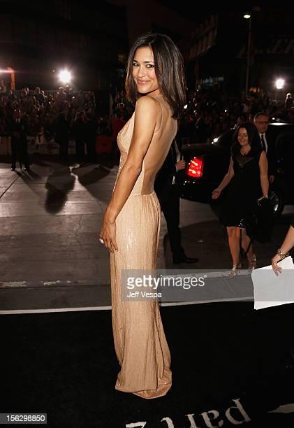 Actress Julia Jones arrives at The Twilight Saga Breaking Dawn Part 2 Los Angeles premiere at Nokia Theatre LA Live on November 12 2012 in Los...