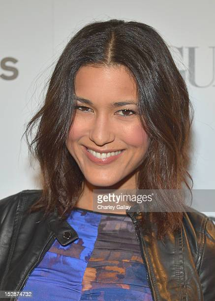 Actress Julia Jones attends Express And Vogue Celebrate The Scenemakers at Chateau Marmont on September 27 2012 in Los Angeles California